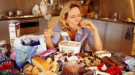 Emotional Eating Woman