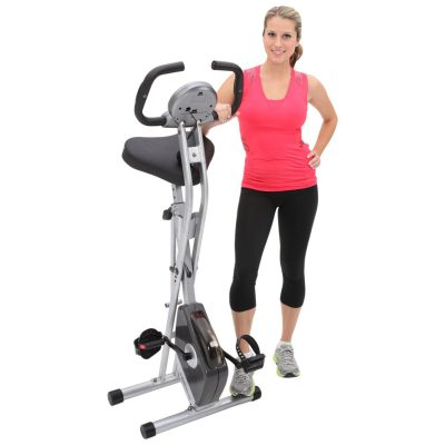 Woman with exercise bike