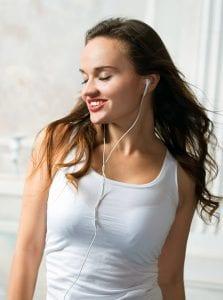 Walking with headphones