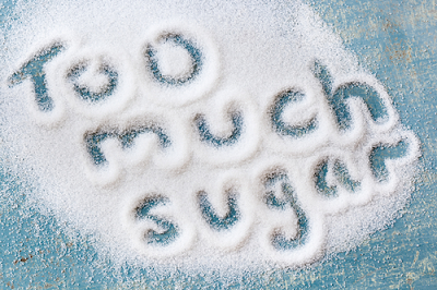 Too much sugar spelled out
