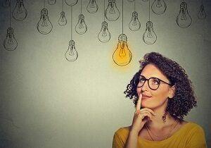Woman Thinking Smart