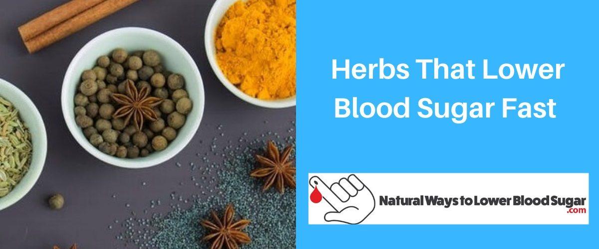 Herbs That Lower Blood Sugar Fast