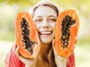 Woman Holding Papaya