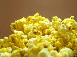 Yellow theater popcorn
