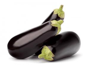 Bunch of eggplant