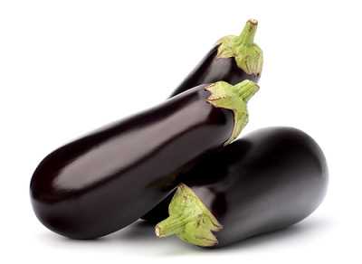 Bunch of eggplant