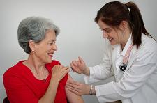 Woman Getting a Flu Shot