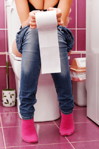 Woman on the Toilet