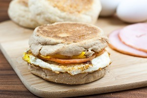Egg Sandwich on English Muffin