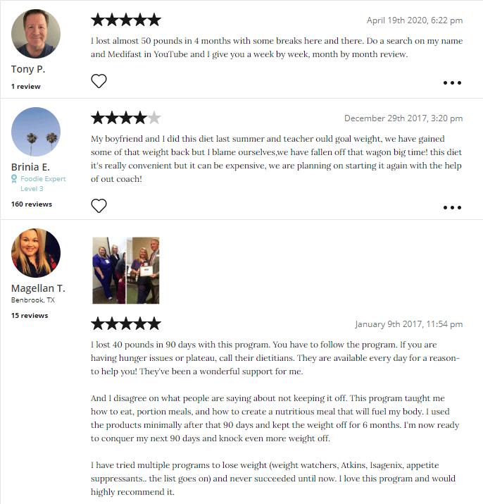 Medifast Diet Plan Reviews