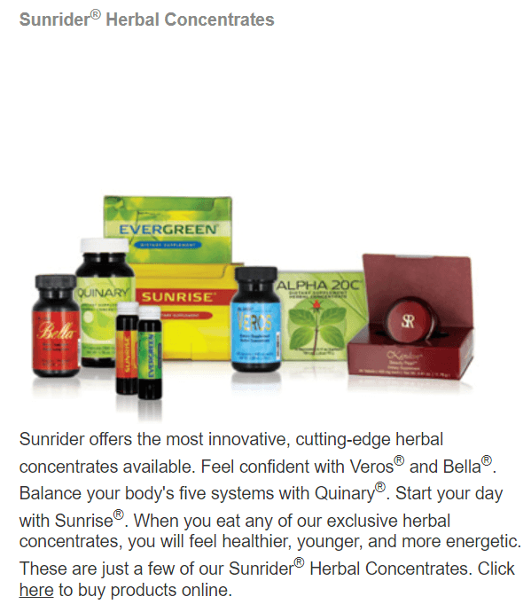 Sunrider Herbal Concentrates